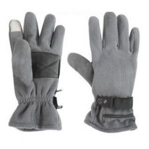 Dual Fuel Fleece Battery Heated Gloves With Free Heat Packs - Large - by Warmawear