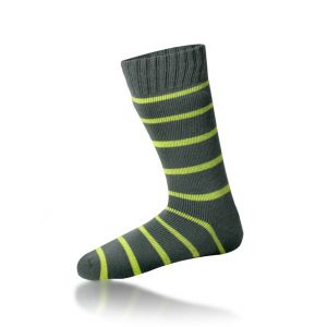 Thermal Socks with Stripes With Free Toe Warmers - Large - by Warmawear
