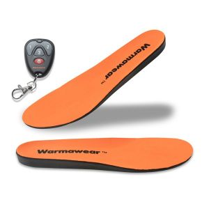 Deluxe Wireless Rechargeable Battery Waterproof Heated Insoles with Remote Control and Free Thermal Socks - XL - by Warmawear