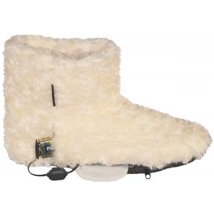 Dual Fuel Battery Heated Indoor Slipper Boots With Free Toe Warmers - by Warmawear