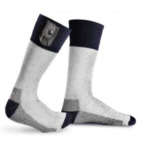 Battery Heated Socks with Reflective Strip With Free Toe Warmers - Large - by Warmawear