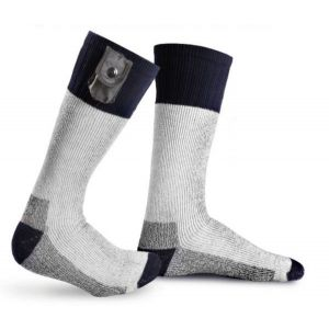 Battery Heated Socks with Reflective Strip With Free Toe Warmers - Small - by Warmawear