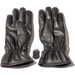 Dual Fuel Burst Power Battery Heated Genuine Leather Gloves With Free Heat Packs - 3 Settings - Small - by Warmawear