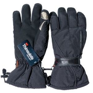 Touch Finger Thermal Gloves With Heat Pack Pocket and Free Heat Packs - Large - by Warmawear