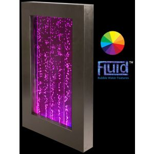 """3ft 4"""" Bubble Water Wall With Color Changing LED Lights"""